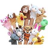 LIMEOW Zestaw lalek z palcami dla dzieci, rodziny, lalek z palcami, pluszowe zwierzątko, lalki dla niemowląt, lalki na palce,