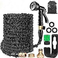 HOMOZE Garden Hose Expandable Hose Pipe 50FT Flexible Magic Hose With Multifunction Spray Gun/Hose Hanger/Storage Bag…