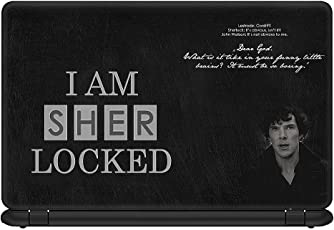 idecor Cool Sherlock Holmes Laptop Skin for Dell, Lenevo, hp Apple with hd Quality Print (15.6 inches) - All Types of Model