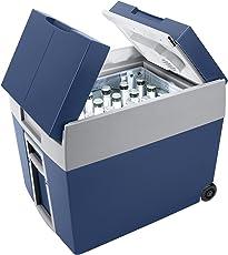 Mobicool W48 AC/DC - thermo-elektrische Kühlbox mit Rollen passend für eine komplette Getränkekiste/Bierkiste, 48 Liter, 12 V und 230 V für Auto, Lkw und Steckdose, A++