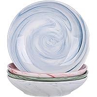 vancasso, Service de Table Porcelaine Assiette Plate Creuse, Bols, Tasse (4 Assiette Creuse, Chloe- Multicoloré)