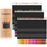 Soucolor Soft Core Colored Pencils for Adult Coloring Book Sketch Crafting Projects - 72 Colors