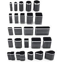 Yuhtech Kit Outils de Coupe Cuir Poinçon à Main, 24 Pcs Poinçon les Outils de Forage de Trous d'artisanat en Cuir Outils…
