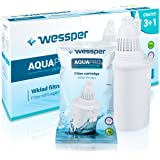 Wessper AQUApro Alkalishe Cartucce per Filtro dell'Acqua, Carbone Attivo, Bianco, 2,5 l