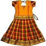 Baby Lakshmi Girl's Faux Silk Readymade Lehenga Choli Set