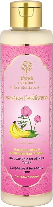 Khadi Essentials Sulphates and Paraben-Free Luxurious Ayurvedic Banana, Lotus and Bhringraj Hair Cleanser Hair Fall Control