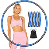 VEERUN Fitness Hoop, Hula Exercise Hoops Circle Ring for Adults Kids Indoor and Outdoor Exercise Weight Loss Sports, 8 Foam P