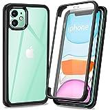 AROYI Coque Compatible avec iPhone 11, 360 Degré Transparente Antichoc Silicone Bumper Integrale Full Body Protection Etui Ho