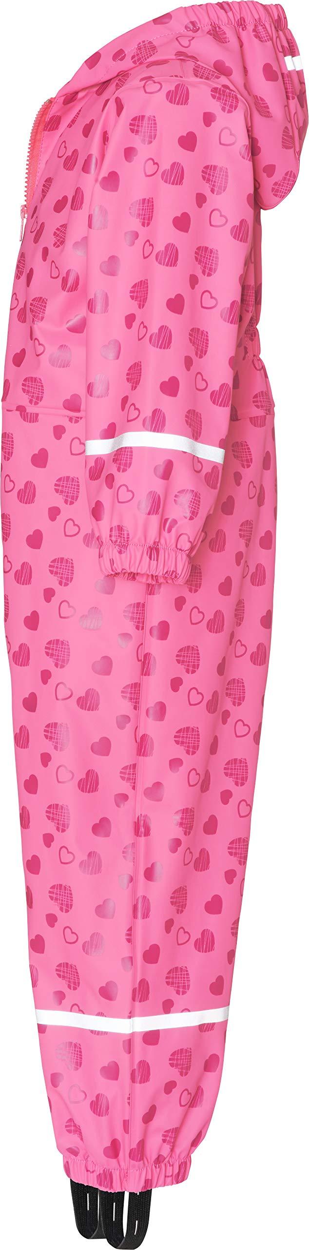 Playshoes Regen-Overall Herzchen Allover Pantalones Impermeable para Bebés 3