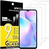 NEW'C 3-Stuks, Screen Protector voor Xiaomi Redmi 9A, Redmi 9C, Gehard Glass Schermbeschermer Film 0.33 mm ultra transparant,