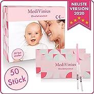 MediVinius Ovulationstest 50 Streifen - Fruchtbarkeitstest für Frauen - Teststäbchen für Ovulation Tests - Eisprung Teststrei