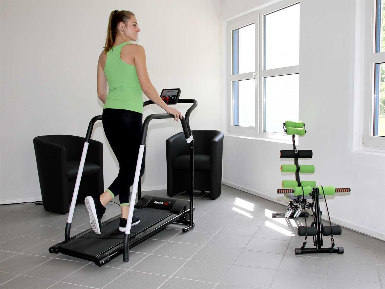 MAXOfit® Tapis roulant Elettrico Professionale Deluxe MF-16 per Riabilitazione e camminiate rilassanti con maniglioni e… 4 spesavip