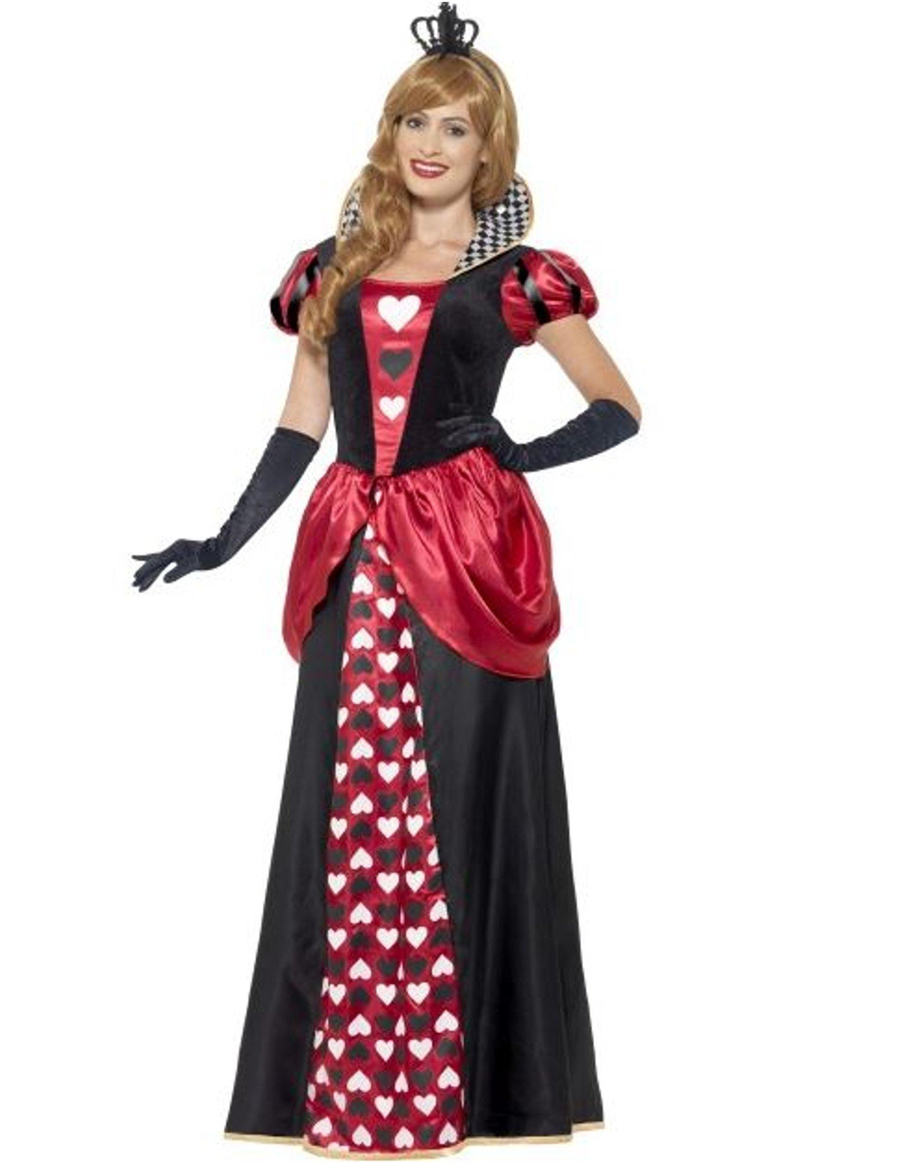 Smiffy's Disfraz de Reina de Corazones Largo para Mujer