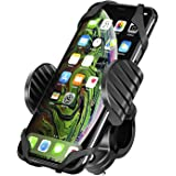 Amkette iGrip Phone Mount for Bike & Bicycle with Silicone Phone Strap, Weatherproof, Easy 360° Rotation and Anti Theft Bar C