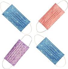 Nimble House Microfiber Cute Print Disposable Ear Loop Non-Woven Flu Virus Anti Pollution Face Mask (Random) - Set of 40 Pieces