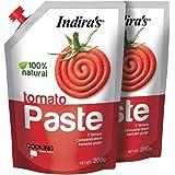 INDIRA'S Tomato Paste (200g Each,Pack of 2)