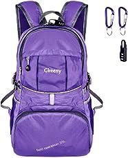 Gkeeny Leichter Rucksack 35L Tagesrucksack Ultraleicht Faltbarer Wanderrucksack Reiserucksack Daypack für Männer Frauen und Kinder für Outdoor Wandern Camping Reisen