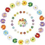 Viesap Ropa Parches, 40pz Parches Ropa Termoadhesivos,Insignia De Parches Bordados Cosidos, Hermosa Flores Parche Apliques De