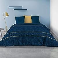 Les Ateliers du Linge - Parure Palace pour lit Double – Housse de Couette réversible 240x220 cm et 2 taies d'oreiller…