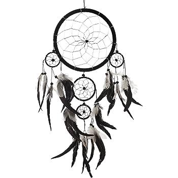 handgefertigt schwarz Quasten-Traumf/änger zum Aufh/ängen an der Wand Weihnachtsgeschenk Traumf/änger stilvolle Dekoration Dekoration f/ür Babypartys gro/ß