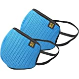 EUME Protect+ 95 Reusable and Washable Face Mask (UNISEX) - (Blue, Pack of 2)