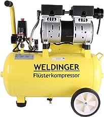 WELDINGER Flüsterkompressor FK 95 pro 750 W Luftabgabe 128 l/min ölfrei