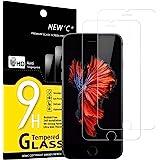 NEW'C 2 Stück, PanzerglasFolie Schutzfolie für iPhone 6, iPhone 6s, Frei von Kratzern Fingabdrücken und Öl, 9H Härte, HD…