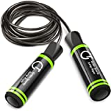 Gritin Skipping Rope, Speed Jump Rope Soft Memory Foam Handle Tangle-free Adjustable Rope & Rapid Ball Bearings Fitness…