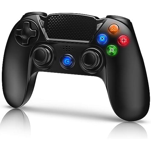 Gamory Controller per PS4,Controller Wireless Gamepad Joystick per Playstation 4/ PS4 Slim/Pro/ PS3, Controller Touch Panel con Doppia Vibrazione a Sei Assi e Audio