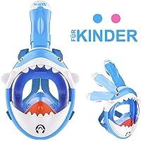 ISUDA Schnorchelmaske Vollmaske,Tauchmaske für Kinder,Faltbare Vollgesichtsmaske mit 180° Sichtfeld und Kamerahaltung…