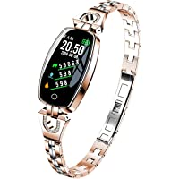 Fitness Tracker, H8 - Braccialetto fitness smart da donna, cardiofrequenzimetro, con rilevamento dell'ossigeno della…