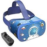 DESTEK Occhiali VR per bambini, 3D Educational 110°FOV Anti-Blue Light Eye Protection HD Virtual Reality Headset per iPhone e