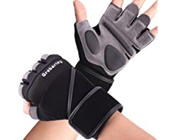 Grebarley Gym Gloves,Training gloves with Wrist Support,Weight lifting Gloves,Breathable Sport Gloves,Crossfit Training,Suit