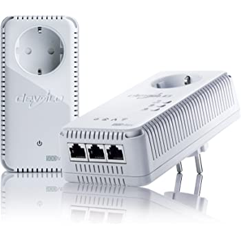 devolo dLAN 500 AV Wireless+ Starter Kit Powerline (Internet über die Steckdose, WLAN, 3x LAN Ports, 2x Powerlan Adapter, PLC Netzwerkadapter, WLAN Booster, WiFi Move) weiß