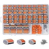 shirylzee Compact Connettore,Morsettiere elettriche 120 pcs impermeabile Capicorda a Morsetto a Leva Connettore cavo…