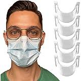 5 pinces de nez anti-buée pour masque transparentes - Empêche la buée et la vapeur - Résistantes, Inodores, non toxiques et 1