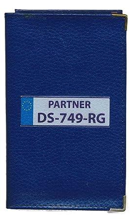 Top Etui Protection cuir bleu Porte Carte Grise papiers voiture permis  IS07