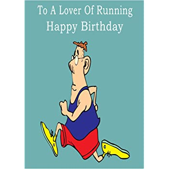 Running Happy Birthday Card