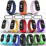 Milomdoi [19 Articulos 15 Colors Correas + 4 Pacs TPU Protector Pantalla Pulsera para Xiaomi Mi Band 6/Mi Band 5/Amazfit Band