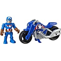 Super Hero Adventures Marvel Super Hero Adventures Captain America, 5-Inch Figure and Motorcycle Set, Collectible Toys…