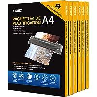 Waytex 500 Pochettes de plastification A4 2x75 Microns par face soit 150 Microns