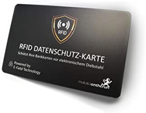 RFID Blocker Schutzkarte NFC Blocking Störsender RFID Blocker NFC Schutzkarte - Störsender - Siehe Video: Eine Karte schützt gesamte Geldbörse vor Datenklau