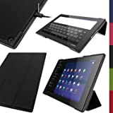 iGadgitz u2899 – Eco Leder Kompatibel mit Sony Xperia Z2 10.1 Tablet SGP511 SGP521 SGP512 mit/Schlaffunktion und…