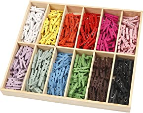 Mini-Wäscheklammern, Sortiment, L: 25 mm, B: 3 mm, sortierte Farben, 288sort.