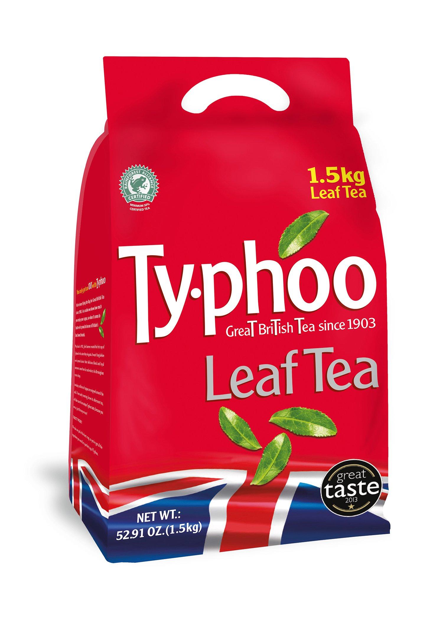 Typhoo tea bundle (rainforest alliance) (black tea) (4 packs of 1.5kg) (6kg) (brews in 3-5 minutes)