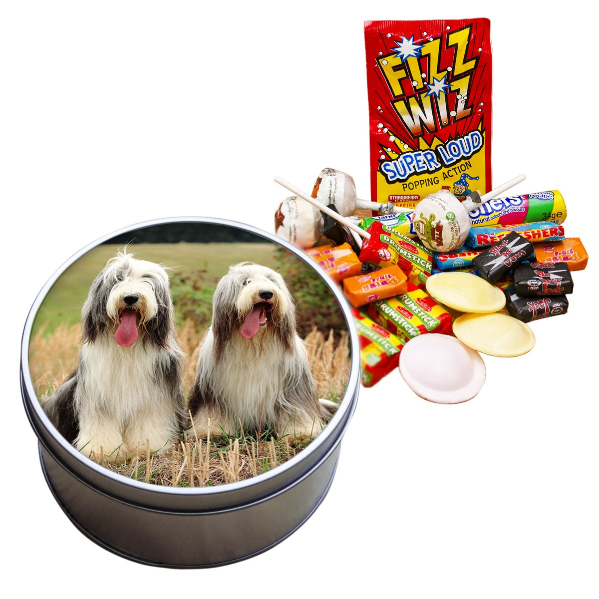 Bearded Collie Dog Animal Retro Sweet Tin 029