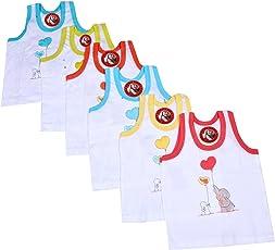 GURU KRIPA BABY PRODUCTS ® Born Baby Infant Sleeveless Cartoon Prints Kids Inner Wear Vest Brief Unisex Baniyan Undershirt Printed Cotton Baby Sando Vest 100% Cotton Housiry Brief Cotton Vest