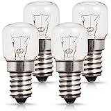 Lot de 4 Lumière Du Four, Petit culot à vis E14 Base, 25W Ampoule Halogène, Blanc Chaud 2700K, 200 Lumen, Non Dimmable, Résis