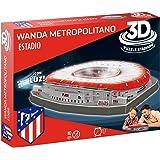 Atlético de Madrid- Puzzle 3D Estadio Wanda Metropolitano con Luz (Eleven Force 14061)