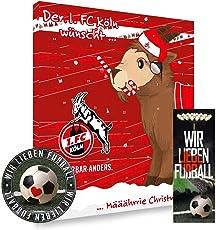1. FC Köln Premium Adventskalender gefüllt inkl. Poster - Plus gratis Lesezeichen & Aufkleber Wir lieben Fussball